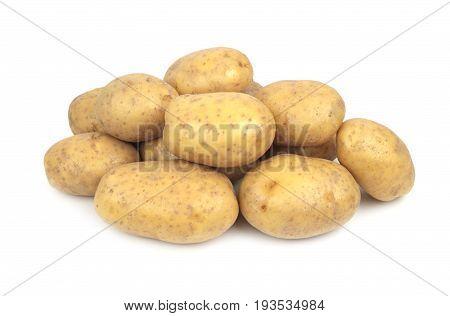 Potatoes isolated on white background close up image