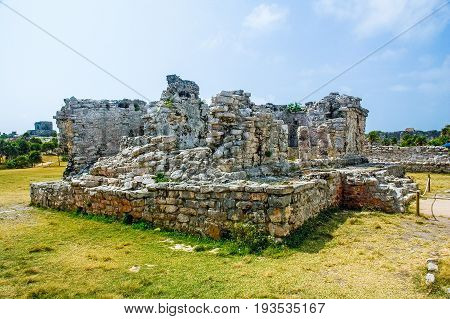 Ruins located in the Yucatan Peninsula of Mexico.