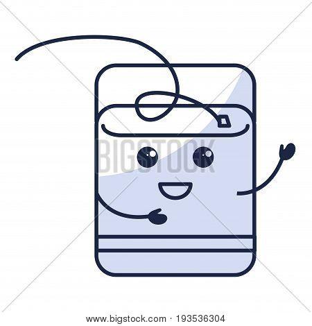 Dental Floss kawaii character vector illustration design
