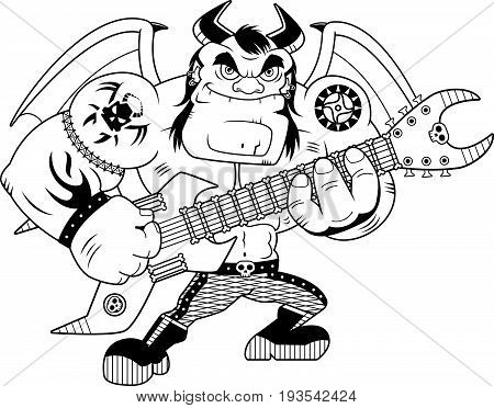 Cartoon Heavy Metal Demon