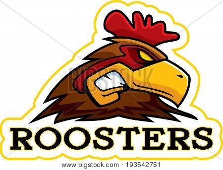 Cartoon Rooster Mascot
