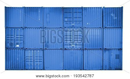 Business and logistics. Cargo transportation and storage. Equipment containers shipping on isolated white background