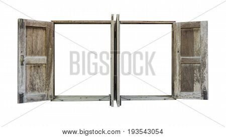 the residential window frame (empty void) .