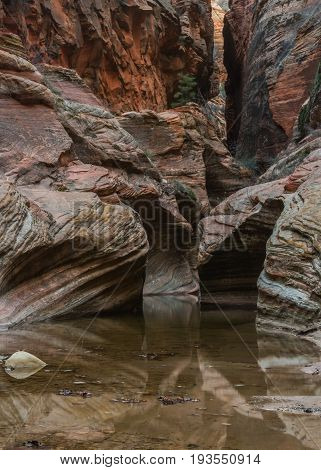 Reflective Waters In Echo Canyon