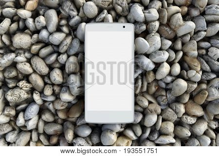 Blank Screen Smartphone On Gravel