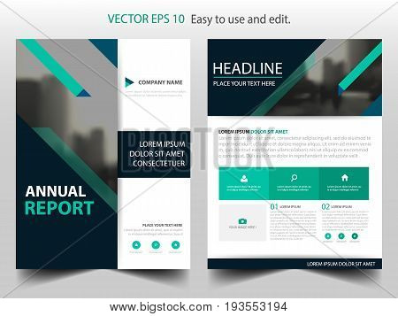 Green business Brochure Leaflet Flyer annual report template design book cover layout design abstract business presentation template a4 size design