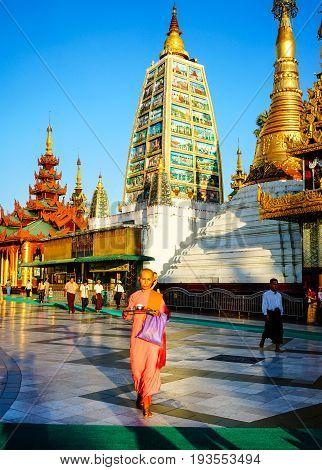 Shwedagon Pagoda In Yangon, Myanmar