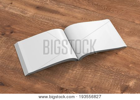 Blank Pages Of Open Soft Cover Book