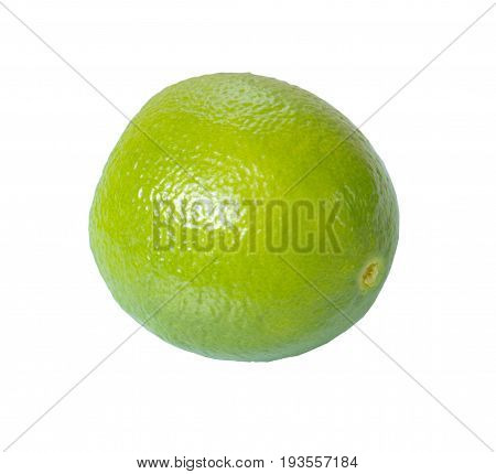 Lemon green isolated on white background with clipping path