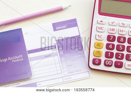 saving account pass book bank and slip deposit of bank
