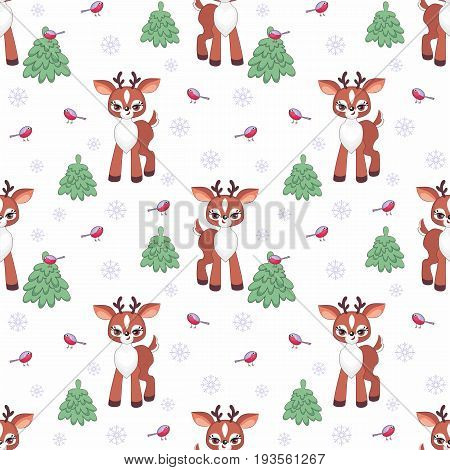 Cute Deer Seamless Pattern.eps