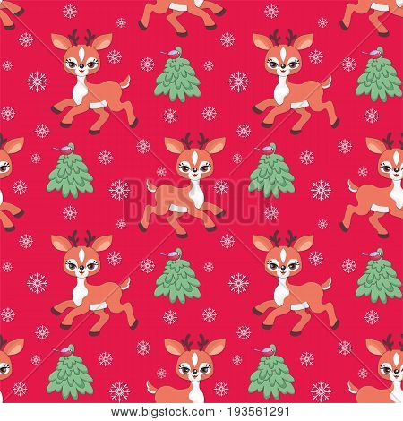 Cute Little Deer Pattern.eps