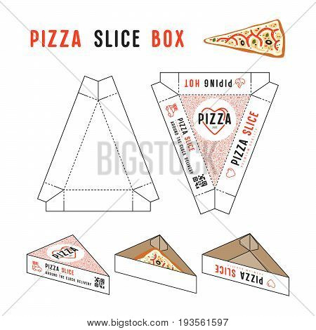 Stock Vector Design Of Box For Pizza Slice