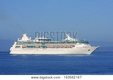 Cruise liner in the Haro Strait off Vancouver Island