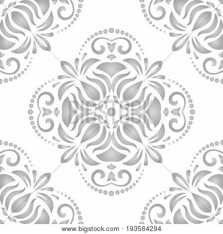 Seamless classic light silver pattern. Traditional orient ornament. Classic vintage background
