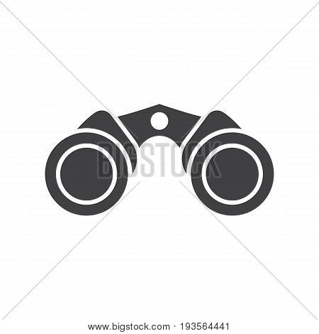 Classic binoculars icon in outline design. Marine binocular vector illustration isolated on white background.