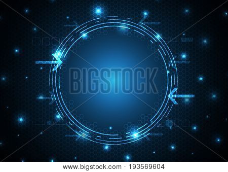 Technology Digital Future Abstract Circle Background