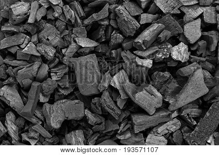 black coal texture coal for barbecue space for text