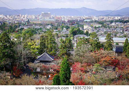 Aerial View Of Kyoto, Japan