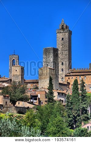 Medieval town of San Gimignano in Tuscany, Italy