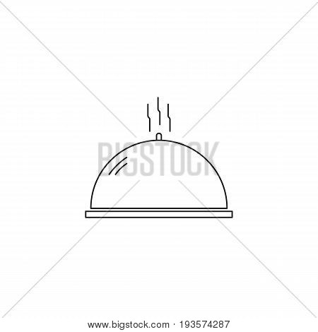 Dish vector thin line icon. Isolated symbol. Logo template for restaurant or gastronomic tour, element for travel agency products, tour brochure, excursion banner. Simple mono linear modern design.