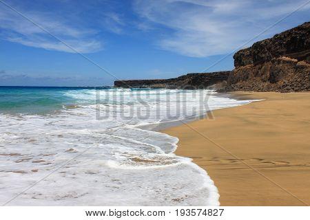 Playa de la Escalera in Fuerteventura. Canary Islands, Spain