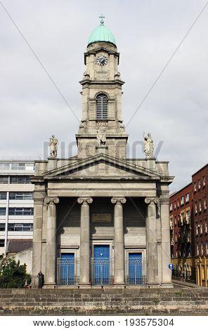 Facade of Saint Paul Church in Dublin, Ireland