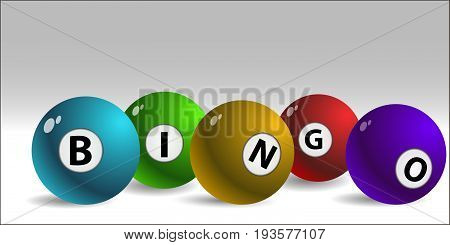 Bingo Lottery Balls  Colors Vector Eps 10 Design