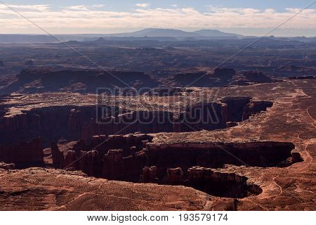 Grand View Point In The Monument Basin In Canyonlands, Utah, Usa