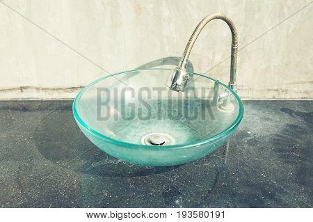 Glass Bowl Hand Wash Basin