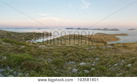 View from the Highest Point of Island Vela Smokvica, Kornati Islands National Park, Croatia