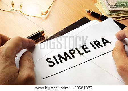 SIMPLE IRA (Savings Incentive Match Plan for Employees) concept.