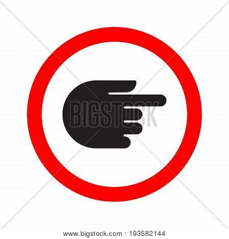 Traffic indicator turn sign hand. Vector illustration.