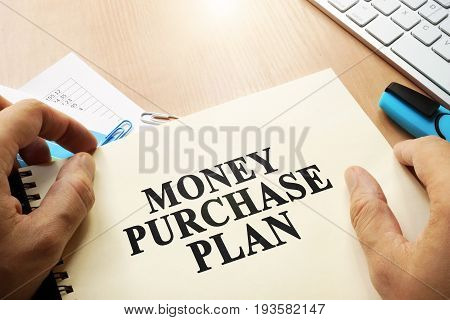 Book with name Money Purchase Plan (MPP). Business concept.