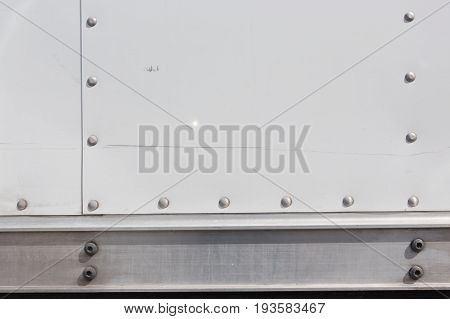 Metal background riveted metal plate for industry