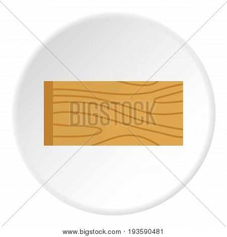 Wooden plank icon in flat circle isolated vector illustration for web