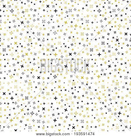 Abstract ornament. Retro background. Seamless art. Avant-garde wallpaper. Vintage backdrop. Bauhaus design. Memphis illustration. Hipster graphic. Futuristic  pattern. Geometry ornament. Vector.