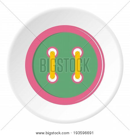 Colorful clothing button icon in flat circle isolated vector illustration for web