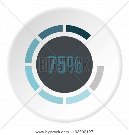 Sign 75 load icon in flat circle isolated vector illustration for web