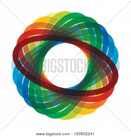 Abstract illustration with color ellipse for your presentation