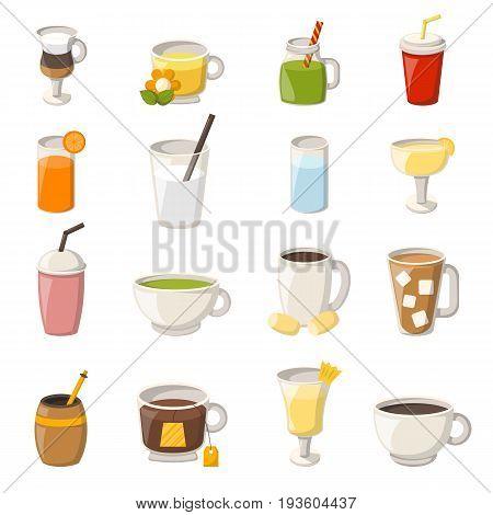 Vector Cartoon Non Alcoholic Drinks