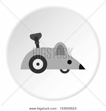 Clockwork mouse icon in flat circle isolated vector illustration for web