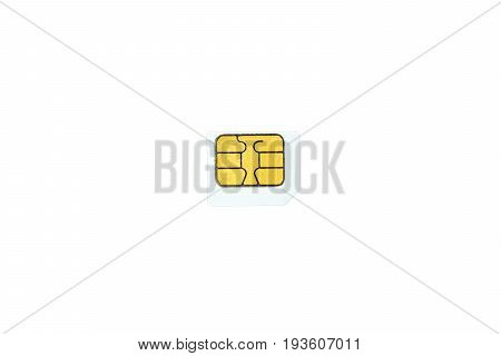 Micro SIM Card is developing communication technology. Design for smaller smartphone Isolated on white background and Clipping path
