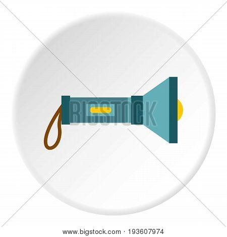 Lantern icon in flat circle isolated vector illustration for web
