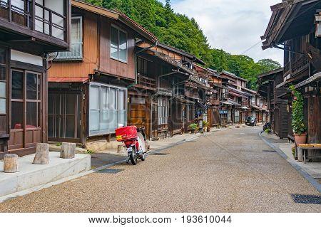 Main Street In Historic Post Town Narai-juku In Kiso Valley