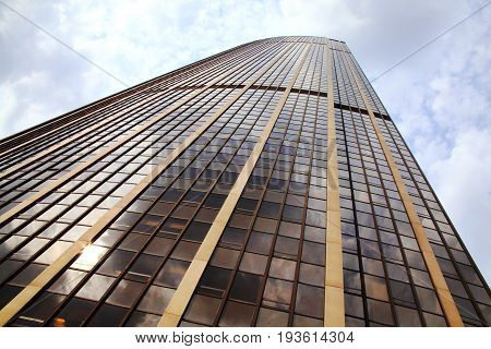 Paris, France - September, 16, 2011:  Tour Montparnasse on the Avenue du Maine has an observation platform where tourist can enjoy a panoramic view of the city
