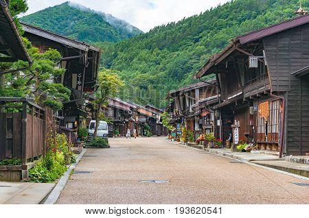 Main Street In Historic Narai Post Town In Kiso Valley