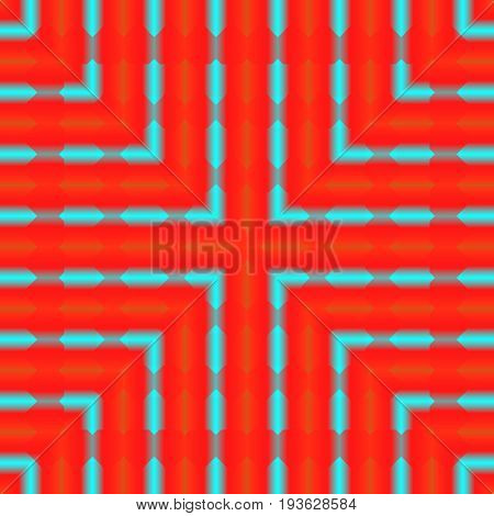 Bright, Psychodelic Seamless Pattern. Mosaic Decorative Design Template. Geometric Abstract Backgrou