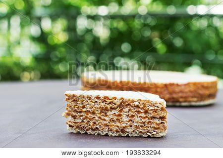 Waffle Cake, Piece Of Cake