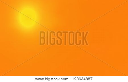 Summer background with a magnificent hot sun and space for your design